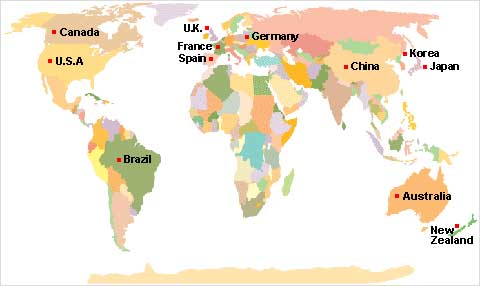 Major Countries of our Export